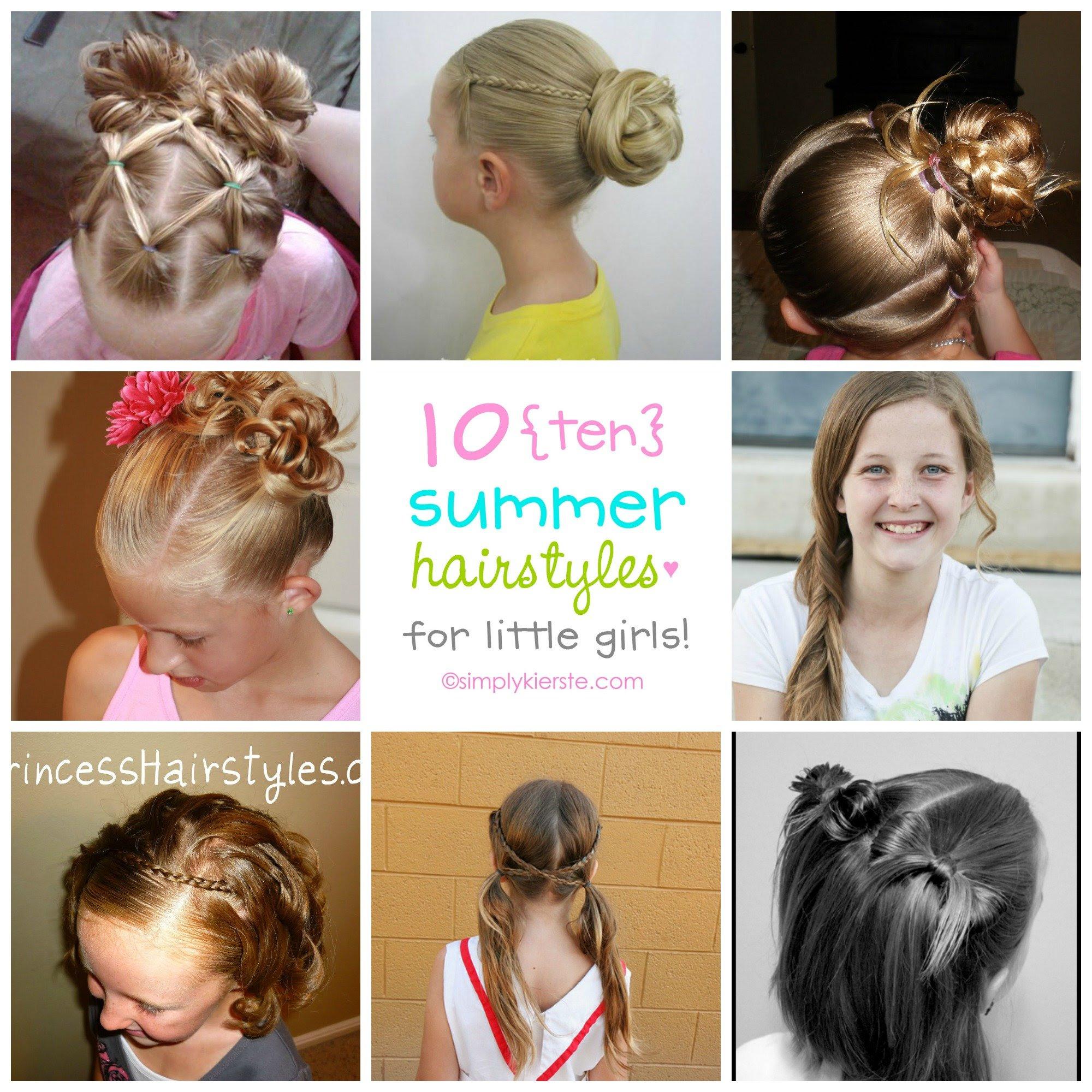 10 Fun Summer Hairstyles For Little Girls Simplykierstecom