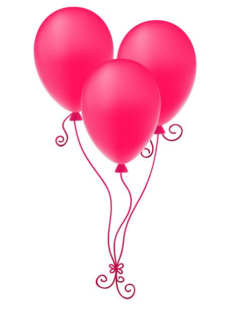 pink balloons png  pink balloonspng transparent