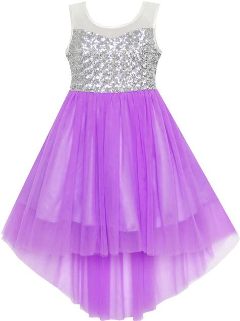 flower girl dress sequin mesh party wedding princess tulle