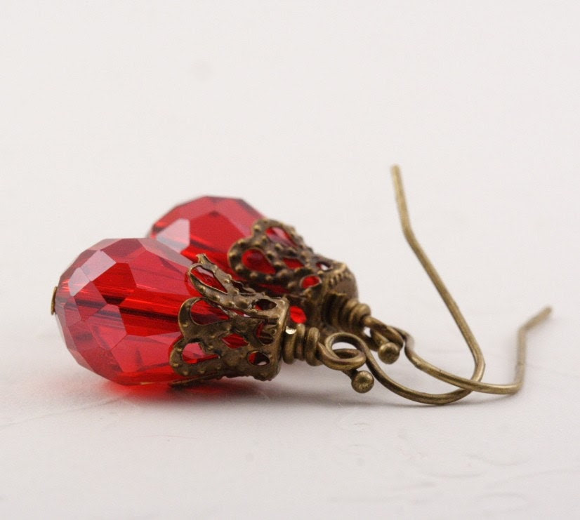 Darling Red Dazzle Earrings