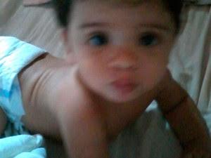 Bebê de oito meses, filho de Josenilde (Foto: Cedida/arquivo da família)