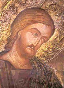 Ο Χριστός. Τοιχογραφία στον κυρίως ναό του Καθολικού