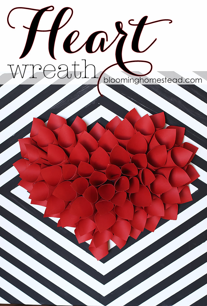 Diy Paper Heart Wreath Blooming Homestead