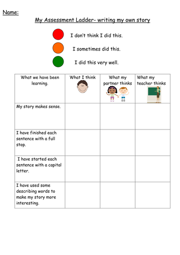 Assessment ladders by arumsey - Teaching Resources - TES