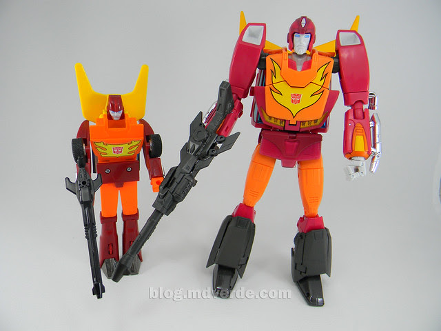 Transformers Rodimus Prime Masterpiece - modo robot vs G1