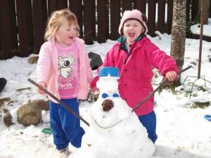 Kaylee & Briar snow