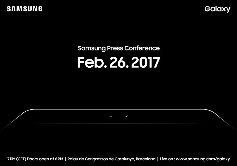 Samsung MWC 2017 event scheduled for February 26, Galaxy Tab S3 expected