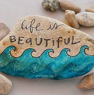 99 DIY Ideas of Painted Rocks with Inspirational Picture and Words 56
