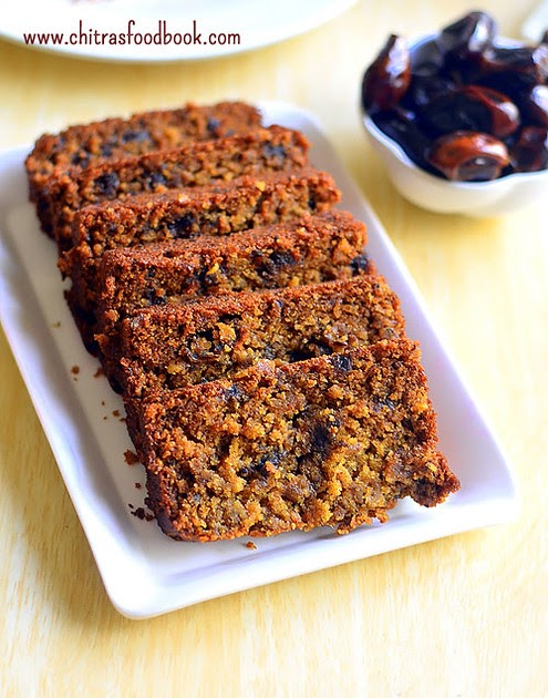 Eggless Dates Cake Recipe With Whole Wheat Flour Amp Oats
