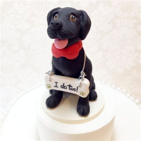Black Lab Cake Topper I do too by DogCakeTopper on Etsy