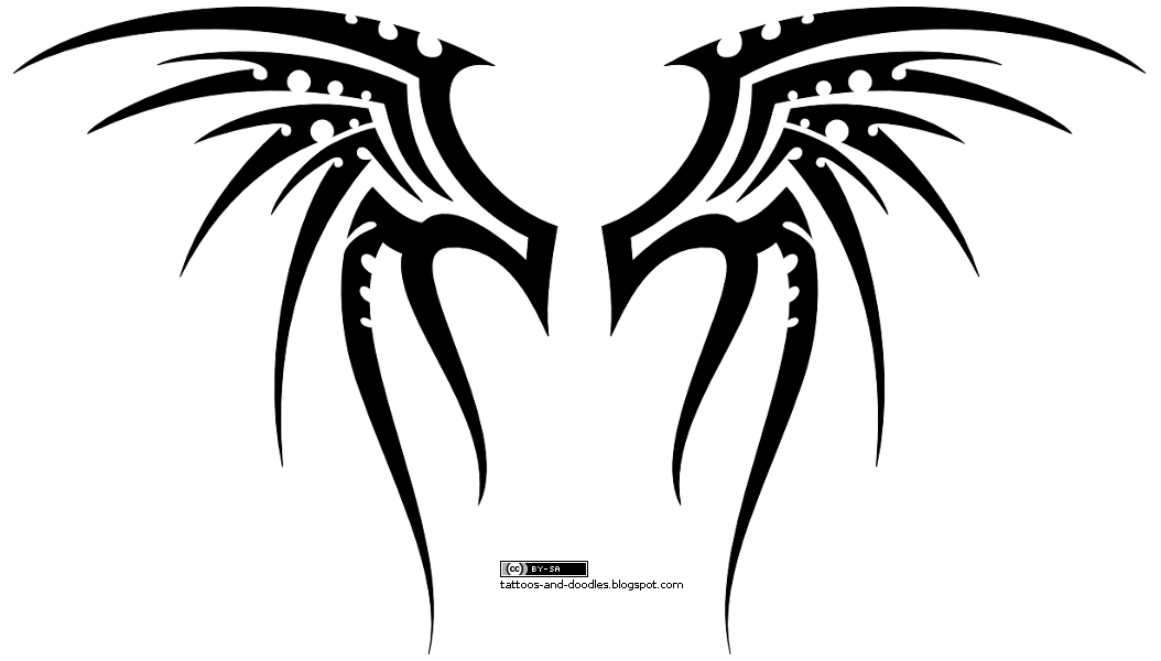 New Tattoo Butterfly Angel Tribal Wings Tattoo Designs Tattoo Clip