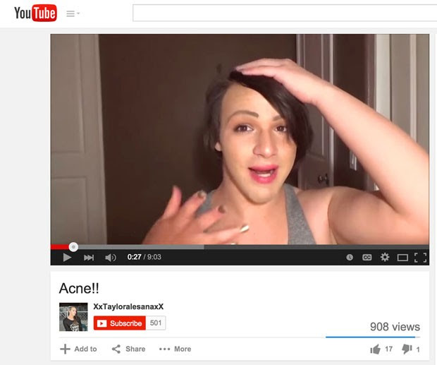 Imagem de vídeo de 28 de fevereiro mostra Taylor Alesana, adolescente transgênero de 16 anos que cometeu suicídio na Califórnia  (Foto: YouTube/AP)