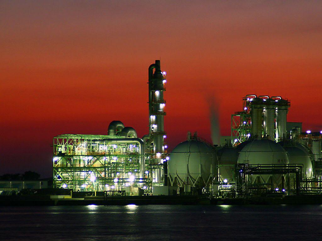 工場夜景 網干なぎさ公園の夜景 壁紙写真集 無料写真素材 日本触媒