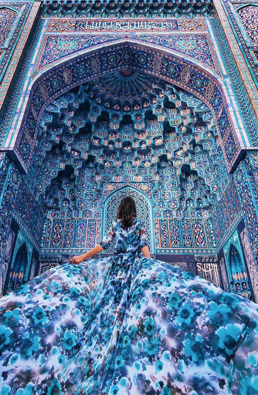 Mezquita de San Petersburgo, Rusia. Modelo: Aygul
