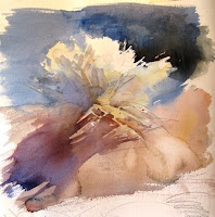 2 minute watercolor painting of a sagebrush in watercolor
