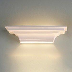 24.5 Inch Ledge Geometric Ceramic Wall Sconce-Indoor Lighting ...