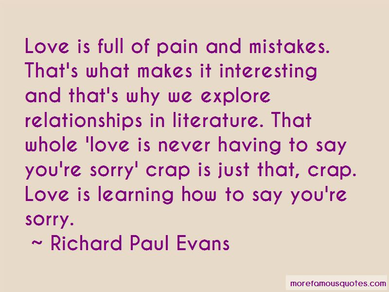 Mistakes In Love Relationships Quotes Top 5 Quotes About Mistakes