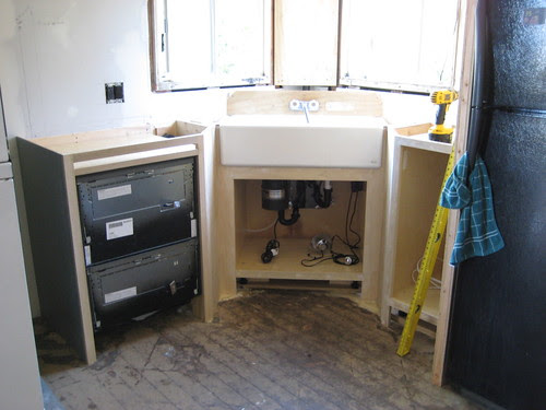 plumbing hooked up