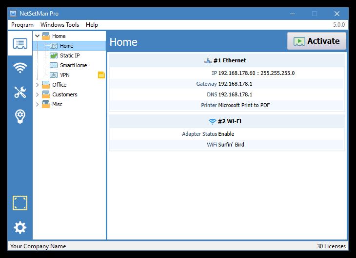 برنامج مجانى لادارة وتغيير إعدادات الشبكة الخاصة بك بسهولة NetSetMan 3.5.3