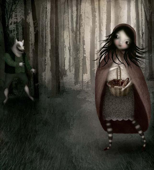 Lisa Evans. Красная Шапочка и волк / Little Red Riding Hood