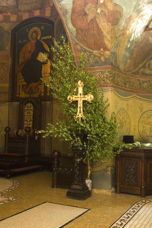 День Святой Троицы 2010 года в Сретенском монастыре. Фото: Антон Поспелов / Православие.Ru
