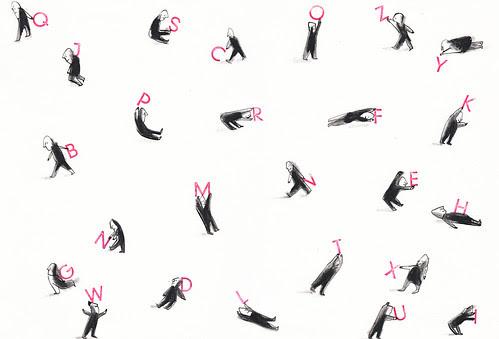 Alphabet game by la casa a pois