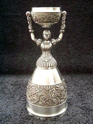 Traditional German Wedding Cup: The cup design enables the