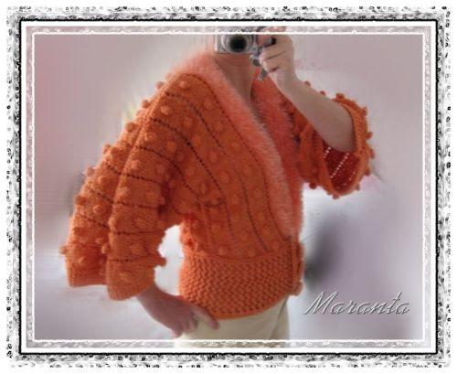 pomarańczowy sweterek