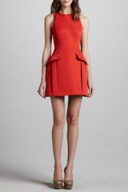 McQ Alexander McQueen Peplum Pocketed Dress