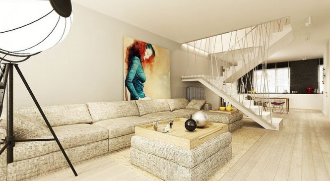 Open-sided staircases allow light to travel unobstructed through a living area, and encourage a feeling of greater space.