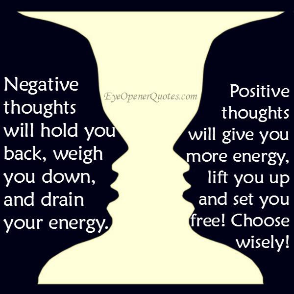Negative Thoughts Will Hold You Back Weigh You Down Eye Opener