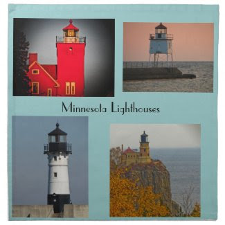 Minnesota Lighthouses Cloth Napkin