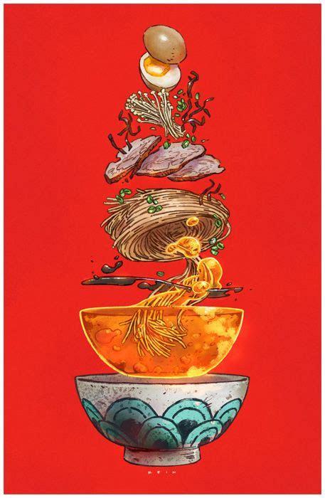 tonkatsu ramen print  paul reinwand art