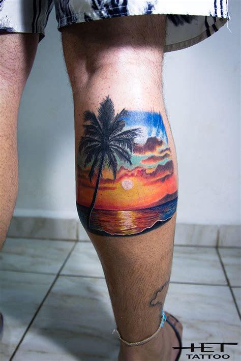 sunset sunset tattoos beach tattoo tiki tattoo