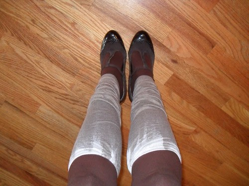 Leg warmers and new shoes