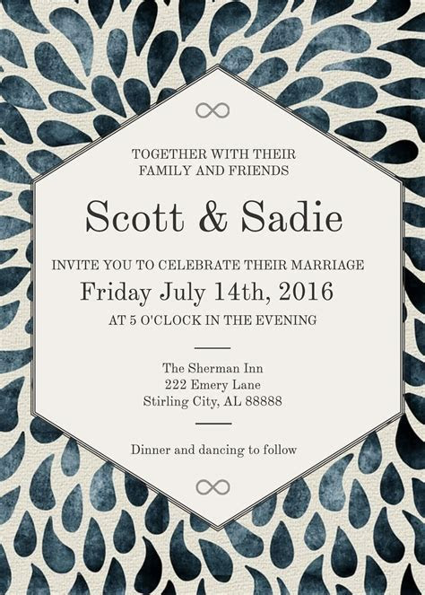 3 Free Wedding Invitation Templates & Examples   Lucidpress