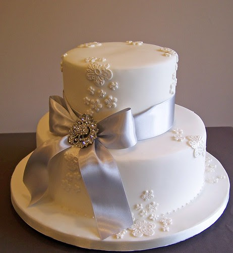 Silver Wedding Anniversary cake | Flickr - Photo Sharing!