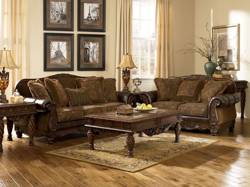Vintage Wood Living Room Furniture - modern livingroom