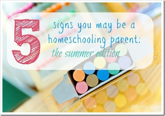 Are you a homeschooling parent Check the signs to find out!