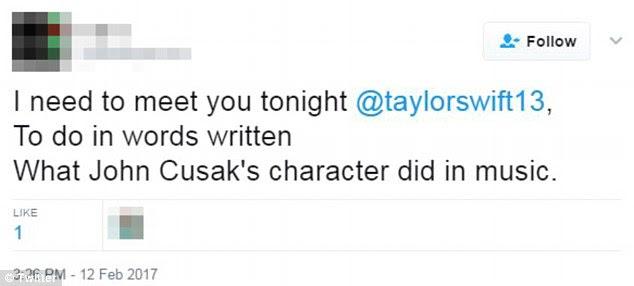 """O assassino de Taylor Swift, Mohammed Jaffar, que foi preso na segunda-feira, exibiu sua fixação na estrela pop em tweets descobertos pela TMZ, incluindo um em 12 de fevereiro, insistindo que """"eu preciso te encontrar hoje à noite"""""""
