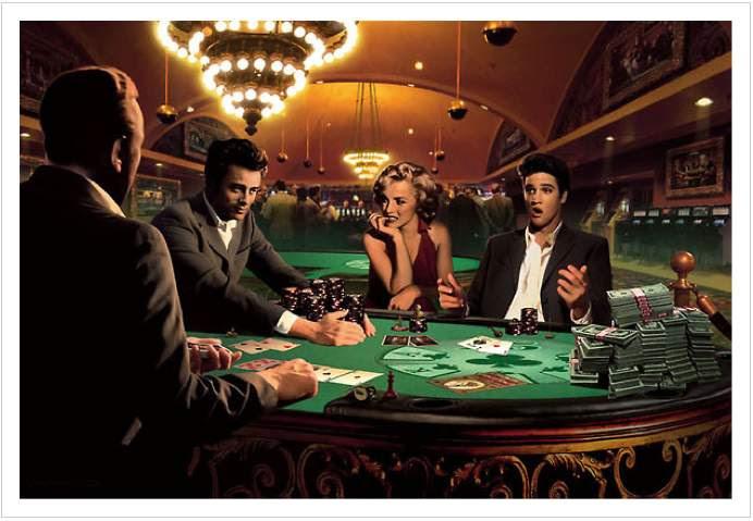 Celebrities Playing Poker Painting Promo Photo Etc