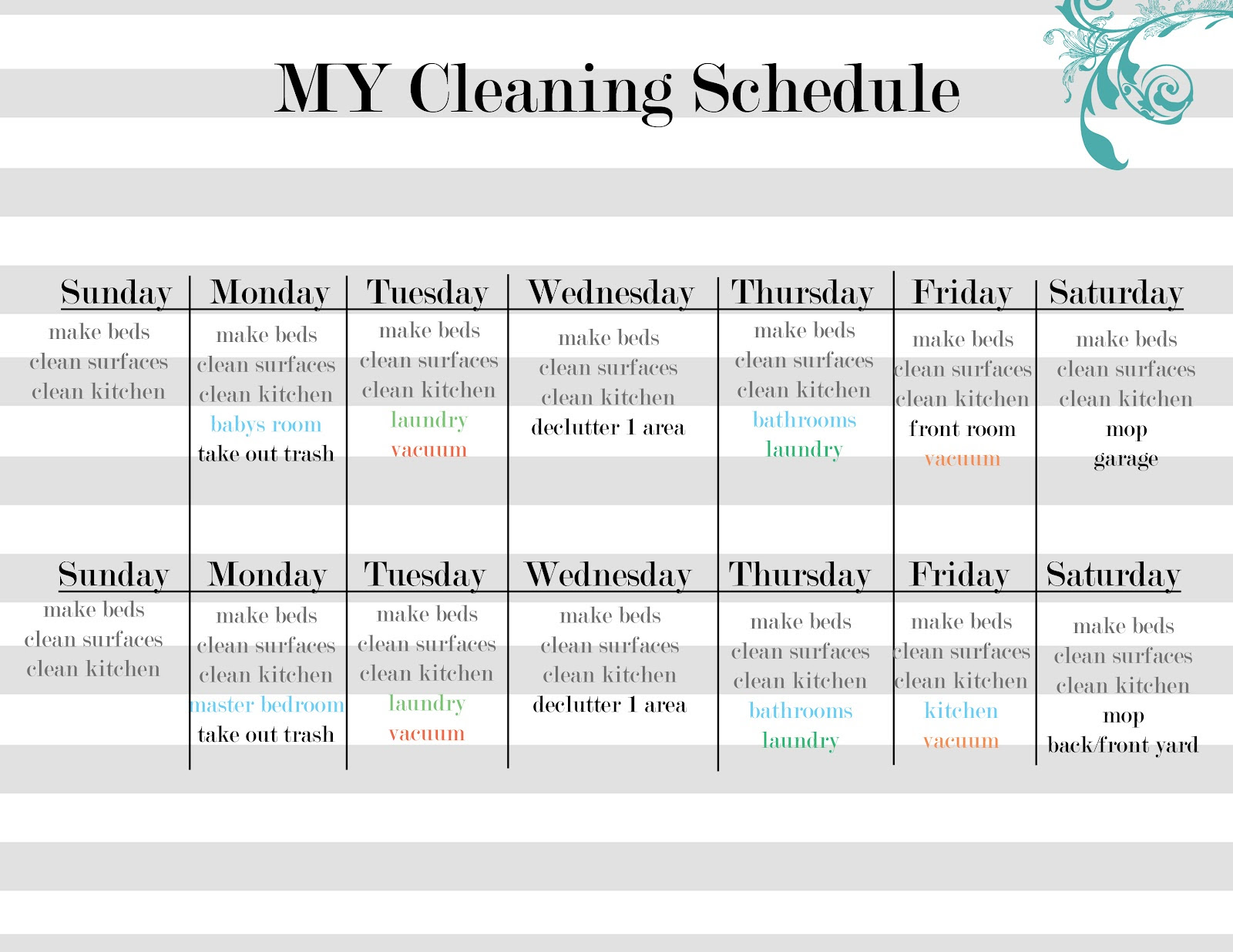 Daily House Cleaning Schedule - Apk Downloader