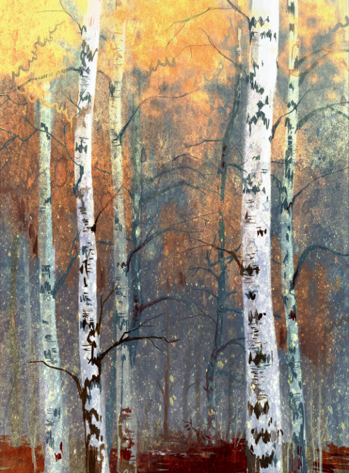 Ner-Tamin   on Tumblr - Birches [Tumblr Monday with bookspaperscissors]