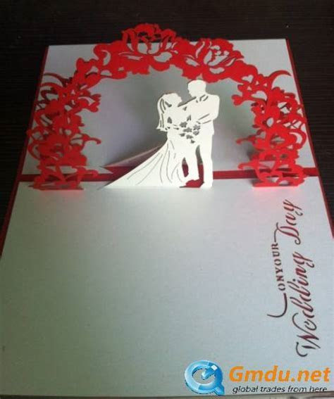Pop up handmade 3D card for wedding invitation   Shenzhen