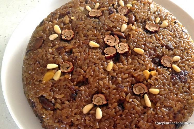 Yaksik, Sweet Rice Bar with Nuts and Korean Dates | Crazy ...