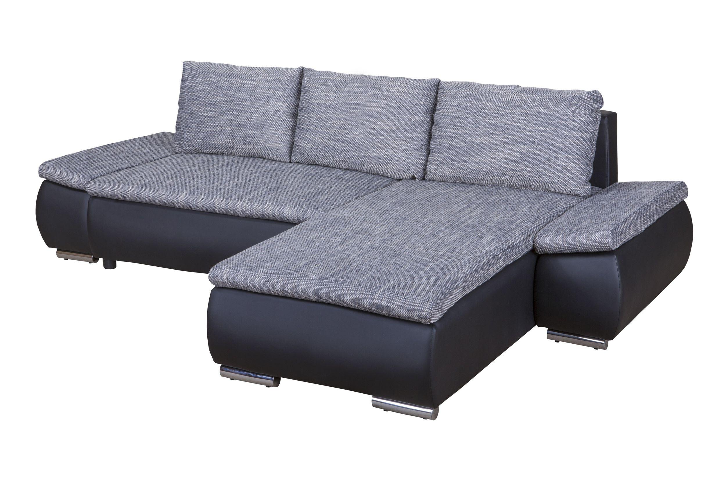 Bettcouch Preiswert Schlafsofa Havdrup In Grau Klappbar ...
