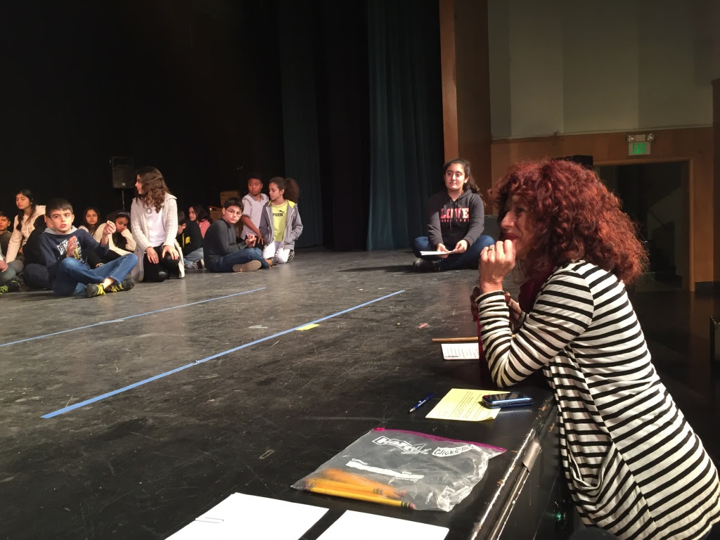 Teaching artist Kate Randolph works in schools all around Los Angeles County.