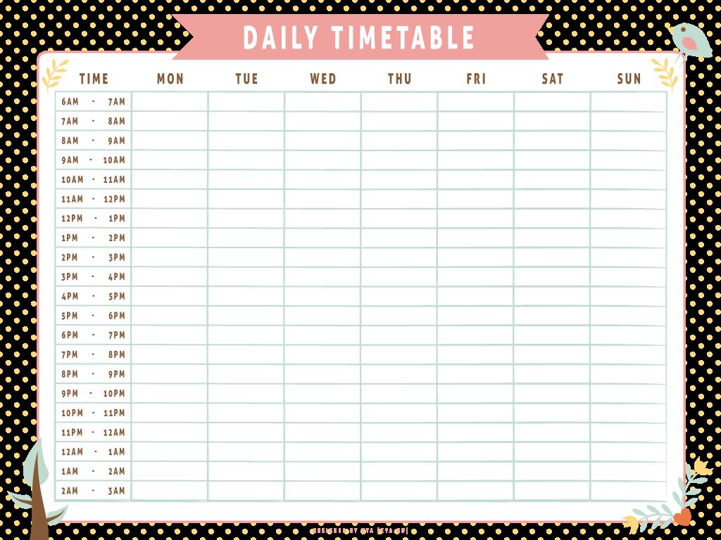 timetable - DeviantArt
