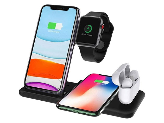 4-in-1 Wireless Charging Station for $40