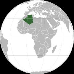 Vị trí của Algérie